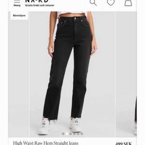 Raka svarta jeans från nakd, super snygga men säljer pga fel storlek💕 skriv för fler bilder