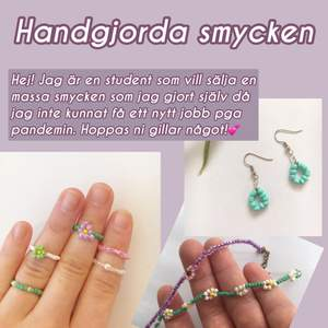 På denna sida säljer jag mina handgjorda smycken, viss material som används kan även vara återanvända från andra smycken som inte använts🥰 Köparen står för frakten och betalning sker via swish💗 Möts inte upp pga pandemin❤️