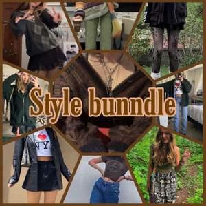 Har tänkt att börja sälja style bundle! Kontakta mig om du vill ha bilder som jag stylat! Du kan också kolla min tiktok tellezzz_stylebundle där jag lägger utt alla min bundles! Frakten beror på villken bunndle du köper! Priset skulle kunna sänkas men antagligen inte. Göra allllla storlekar!✨🌈💕