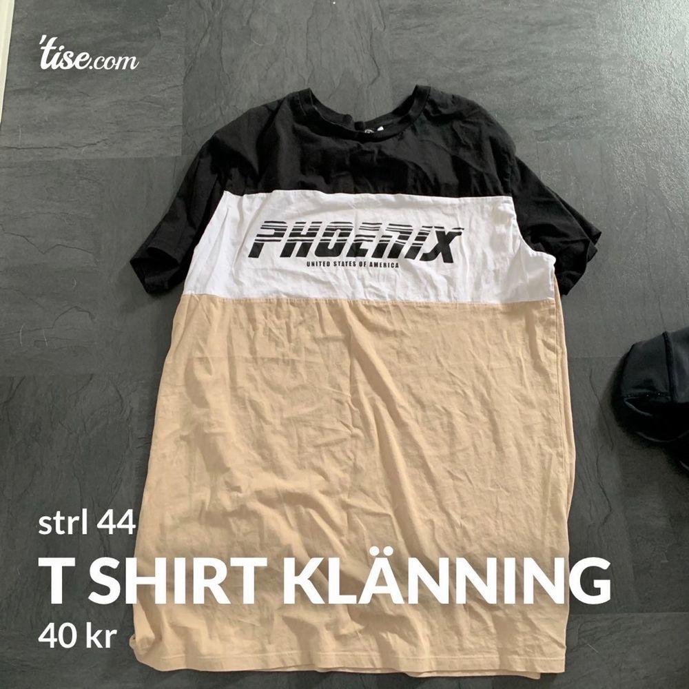 T shirt klänning från H&M. knappt använd. köpare står för frakt. Loose fit.. Klänningar.