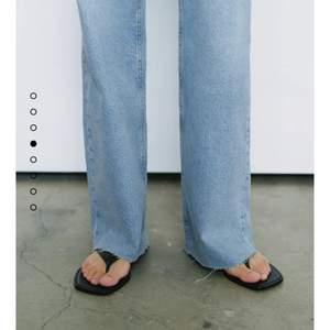 Jeans från zara, jätte fina men för små för mig. Jätte fin blå färg