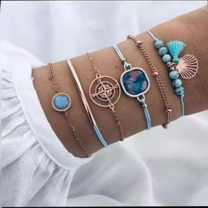 Sjukt vackert bohemian armbands set. (6st)  - Längd: Justerbart  - Material: Koppar, zirkonia stenar   - Frakt: 1-3 dagar. Icke spårbart: fri frakt. Spårbart: 69kr  - Kan även mötas upp i Kristianstad