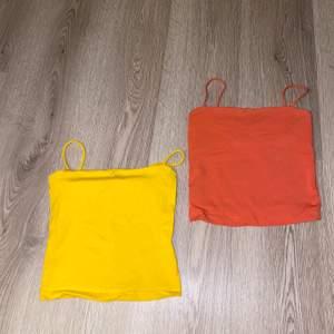 Superfina korta linnen från Gina tricot. Båda är storlek xs. Korall och gul. Gula för 30 och korall för 35 eller båda för 60. Står ej för frakt🥰