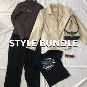 Style Bundle gjord av mig 😍 Information hittar du på sista sliden. Priset varierar mellan 500-600kr + frakt. Skriv gärna privat till mig ifall du vill beställa eller har några frågor. De kläder på bilden är inte till salu men jag kan absolut hitta liknade plagg. Var god låt det ta ca 2-2,5 veckor. Tack! 💖