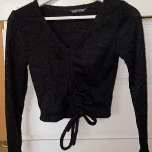 Aldrig använt tröjan alltså helt ny. Inte stretchig. Jätte bra skick. Super fil tröja verkligen.