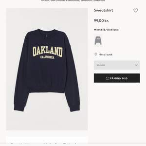 Sweatshirt från H&M bra skick. Jag köpte tröjan för 99 och säljer den för 75. Den är slutsåld som ni ser på bilden, skriv privat för fler bilder🌸
