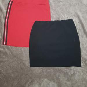 Röd kjol ❣storlek 170❣ 50 kr (aldrig använd)       💚SÅLD💚Svart kjol 🖤 storlek XS-S🖤 50 kr (använd fåtal)    BUDA med minst 10 kr 💠 köparen står för frakt.