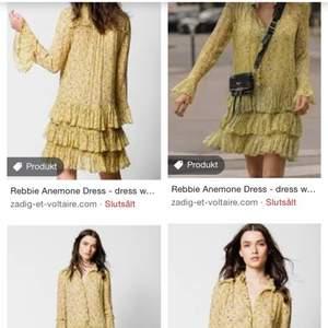"""Söker denna Zadig & Voltaire klänning i modellen """"rebbie""""💐💖"""