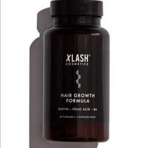 Xlash Hair Growth Formula 》NY 》En burk innehåller 60 kapslar. 》Nypris: 349:-  》》Koncenterad formula med vitaminer och mineraler Innehåller bland annat biotin, b-vitaminer och marint kollagen,Ger näring inifrån. 》》För mer info gå in på: https: //xlash.se/produkt/hair-growth-formula/