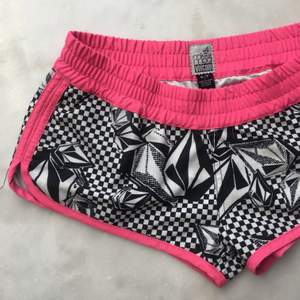 Shorts from Volcom - they're a size Small, but feels more like extra small. Low-rise and short.