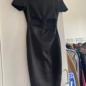 Size S, tight black dress cut out underboob dress