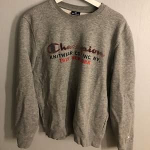 Grå sweatshirt från Champion, bra kvalitet! Orginalpris 599kr Köparen står för frakten❗️