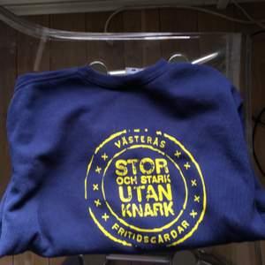 En fin tröja från min fritidsgård! Den är i storlek M och är i bra skick! 💕 Trycket är på ryggen! Köpare står för frakt!
