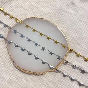 Superfina kedjor, finns både som armband och halsband! Pris för armband är 59kr, pris för halsband är 79kr! Materialet är rostfritt stål! 🤍