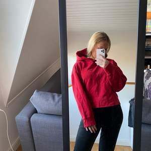 En röd tröja ifrån Zara, storlek XL men skulle mer säga S/M