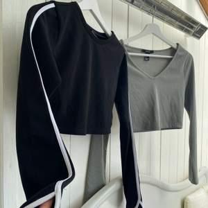 Två stycken långärmade tröjor i jättebra skick, svarta är köpt i New York och Gröna i London. Köp en för 75kr eller båda för 140kr 💓 skriv för mer info
