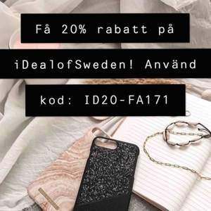 Få 20% rabatt på valfri produkt från iDeal of Sweden! Använd koden: ID20-FA171 !   Gäller september ut 2019