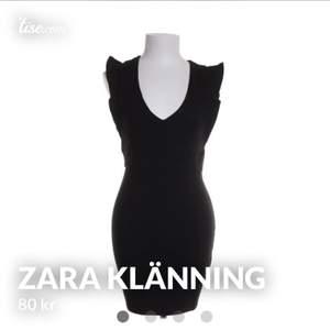 Svart klänning från Zara, stl M men liten i stl passar 34-36,