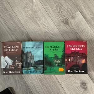 Säljer 4 st böcker. Förfestade Peter Robinson. Ligger inte i ordning då jag har noll koll på böcker. Böckerna är i fint skick. 60kr för alla eller 20kr st. För mer info så är det bara att skriva till mig