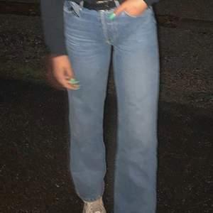 Snygga wide jeans, använt skick