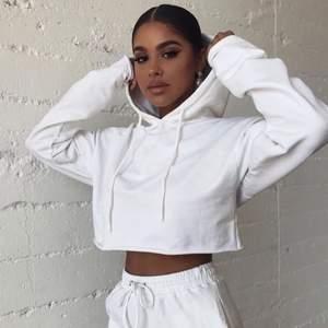 Säljer denna jättefina hoodie då den inte kommer till användning längre, passar jättefint nu till sommaren! Vid snabb affär kan pris diskuteras privat!☺️