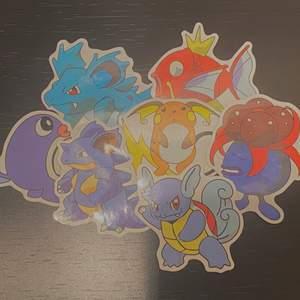 7pack söta Pokémon stickers! Alla stickers är runt 6 cm stora. Frakt tillkommer - 12kr<3 ( säljs endast i pack! Inte styckvis )