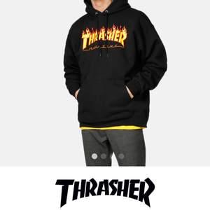 Jag söker en ÄKTA svart thrasher hoodie i fint skick, helst storlek M. Men skicka även om ni har annan storlek