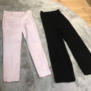 Rosta kostymbyxor från hm storlek 36. De svarta är från Lindex och är i storlek 34. De behöver sys lite vid dragkedjan men går att använda som dem är med då dragkedjan ej är sönder.