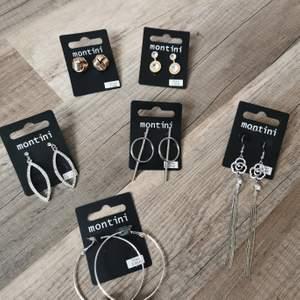 Säljer nya örhängen från montini. 20kr/st köparen betalar portot +2kr för emballage