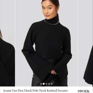 En beige högkragad tröja, aldrig använd, prislappen är dock avtagen. Storlek L men den är kort så passar en storlek S lika bra.