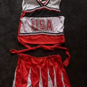 Cheerleading dräkt om är använd 1 gång.