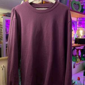 suuuperfin och skön lila sweatshirt!!! älskar denna men det kommer tyvärr inte till användning längre :( den är i XXL men sitter jättensygg oversized! (+66kr spårbar frakt)