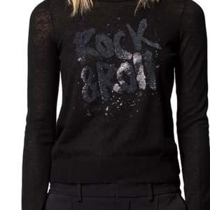 Rock & Roll tröja från Zadig med glitter på, använd 1 gång! Den ser ut som ny! Köpte för 2000kr på Zadig & voltare butiken👍🏽 buda!!