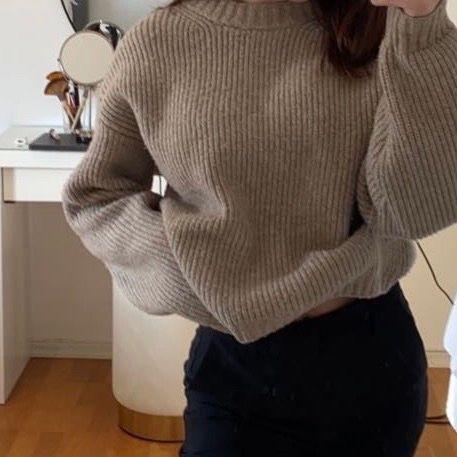 Stickad fin tröja i ett skönt material🥰. Tröjor & Koftor.